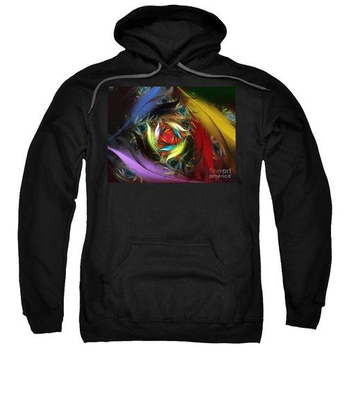 Carribean Nights-abstract Fractal Art Sweatshirt
