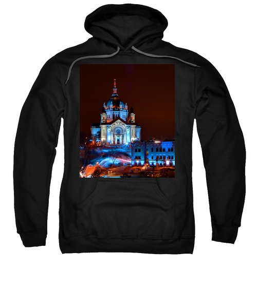 Cathedral Of St Paul All Dressed Up For Red Bull Crashed Ice Sweatshirt