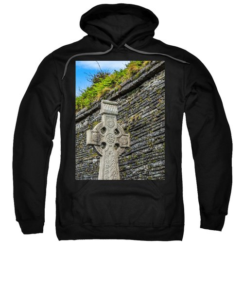 Celtic Cross At Kilmurry-ibrickan Church Sweatshirt