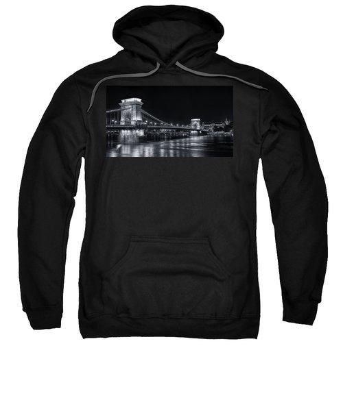 Chain Bridge Night Bw Sweatshirt