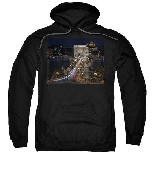 Chain Bridge Night Traffic Sweatshirt