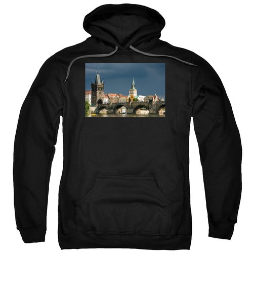 Charles Bridge Prague Sweatshirt by Matthias Hauser