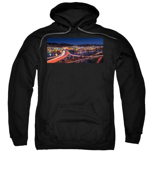 Charleston Wv At Night Sweatshirt