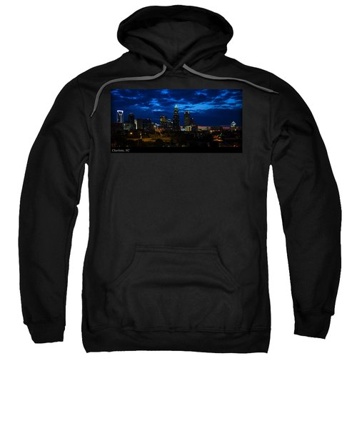 Charlotte North Carolina Panoramic Image Sweatshirt