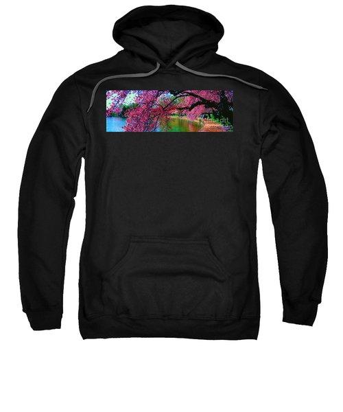 Cherry Blossom Walk Tidal Basin At 17th Street Sweatshirt