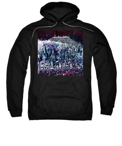 Chicago Skyline Black Verson Sweatshirt