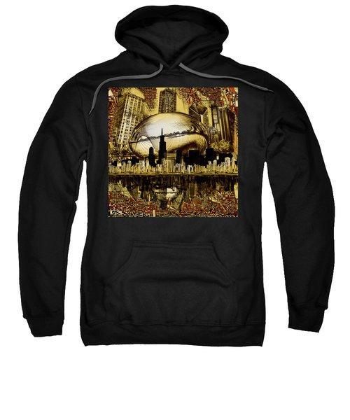 Chicago Skyline Drawing Collage 3 Sweatshirt