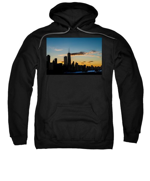 Chicago Skyline Silhouette Sweatshirt