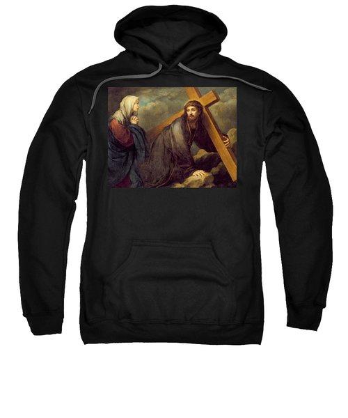 Christ At Calvary Sweatshirt
