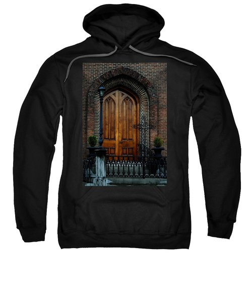 Church Arch And Wooden Door Architecture Sweatshirt