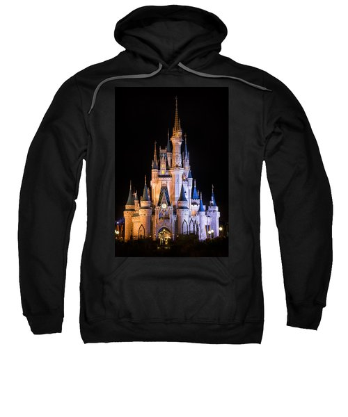 Cinderella's Castle In Magic Kingdom Sweatshirt