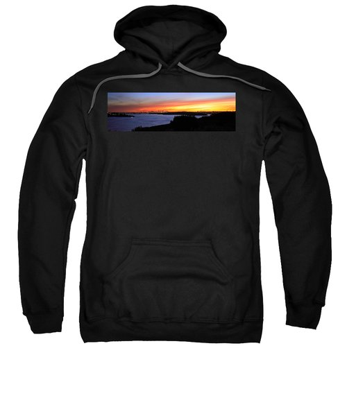 Sweatshirt featuring the photograph City Lights In The Sunset by Miroslava Jurcik