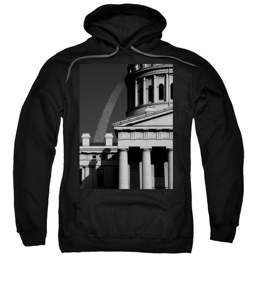 Classical Courthouse Arch Black White Sweatshirt