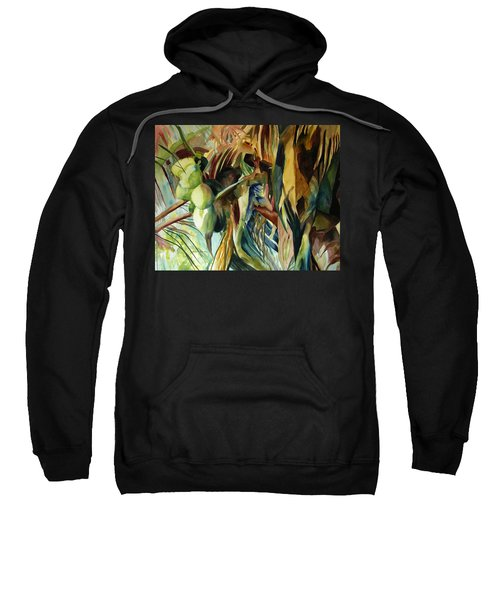 Coconuts And Palm Fronds 5-16-11 Julianne Felton Sweatshirt