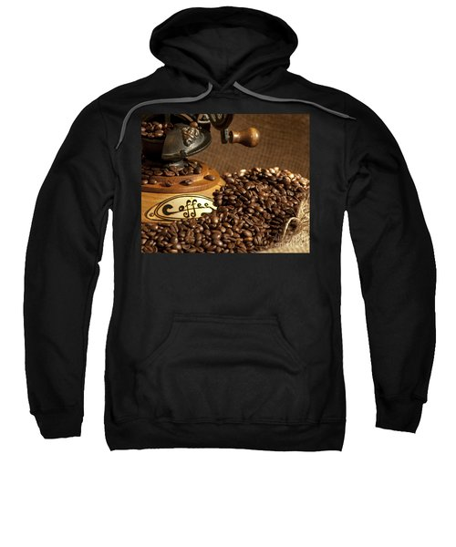 Coffee Grinder With Beans Sweatshirt