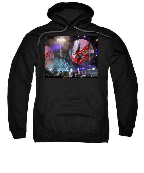 Sweatshirt featuring the photograph Coldplay - Sydney 2012 by Chris Cousins