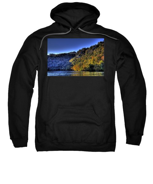 Sweatshirt featuring the photograph Colorful Trees Over A Lake by Jonny D
