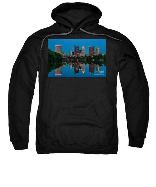 Columbus Ohio Night Skyline Photo Sweatshirt