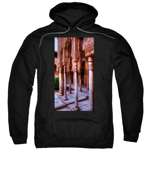 Columns Of The Court Of The Lions - Painting Sweatshirt