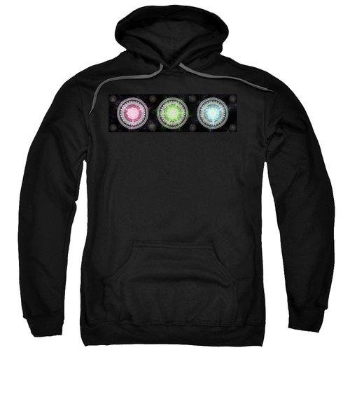 Sweatshirt featuring the digital art Cosmic Medallians Rgb 1 by Shawn Dall