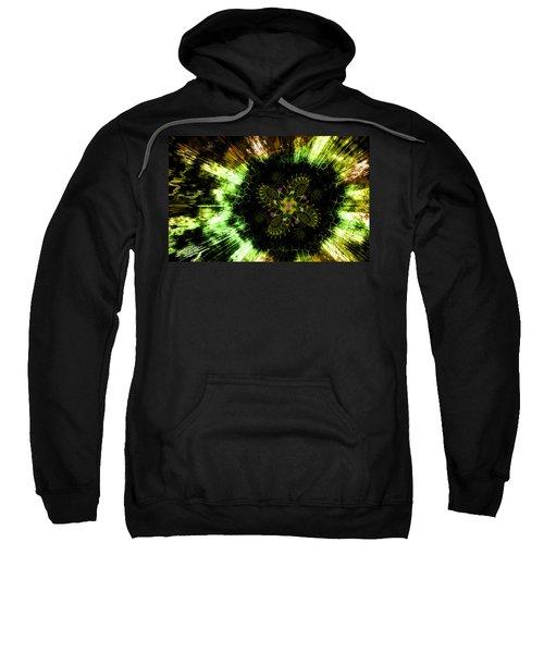 Cosmic Solar Flower Fern Flare Sweatshirt