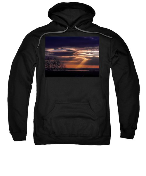 Sweatshirt featuring the photograph Cosmic Spotlight On Shannon Airport by James Truett