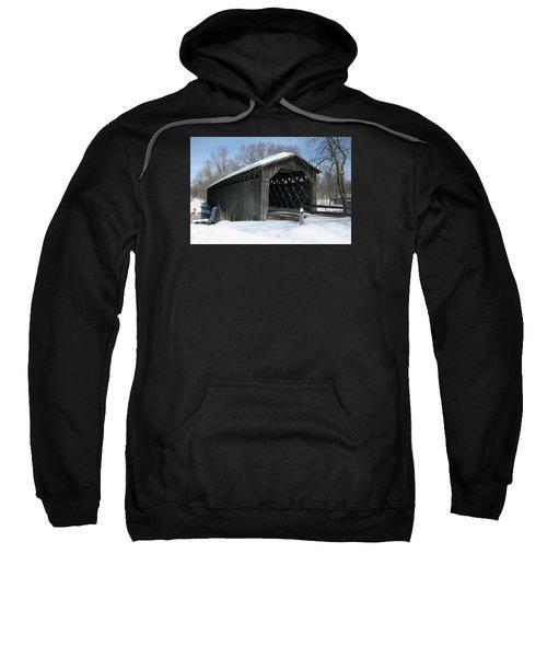 Covered Bridge In Winter Sweatshirt