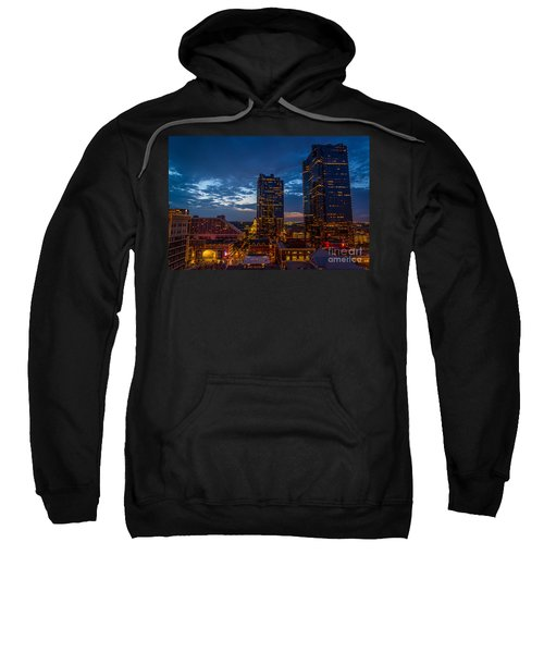 Cowtown At Night Sweatshirt