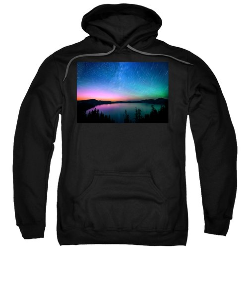 Crater Lake Aurora  Sweatshirt