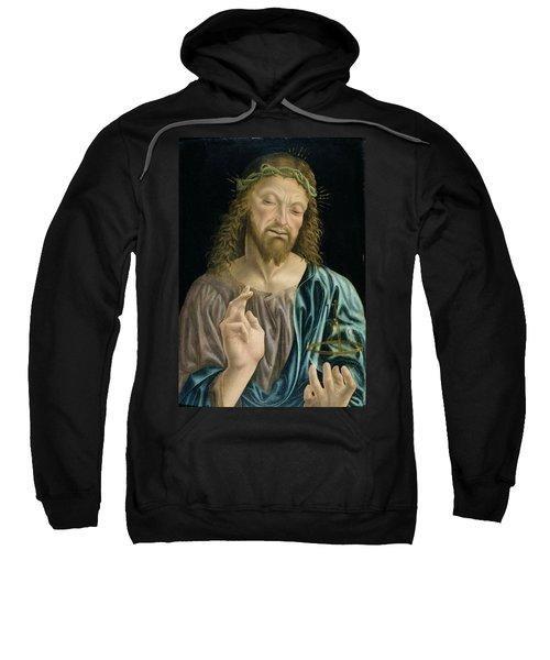 Cristo Salvator Mundi, C.1490-94 Sweatshirt