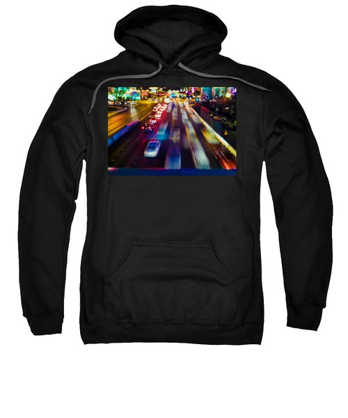 Sweatshirt featuring the photograph Cruising The Strip by Alex Lapidus