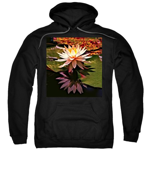 Sweatshirt featuring the photograph Cypress Garden Water Lily by Bill Barber