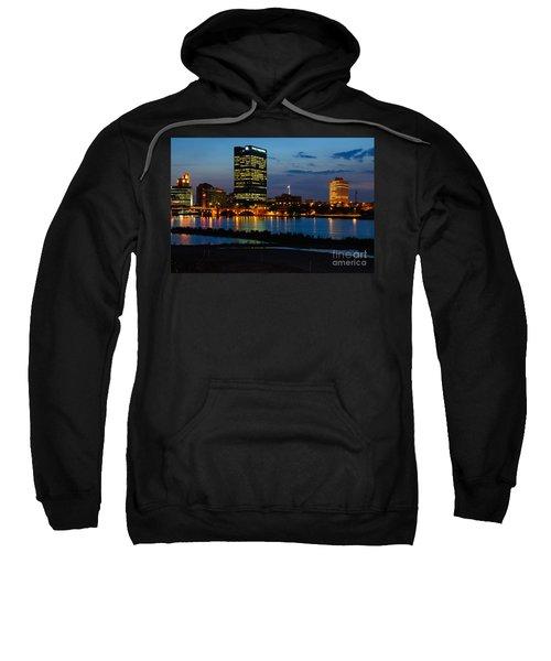 D12u152 Toledo Ohio Skyline Photo Sweatshirt