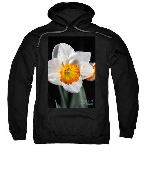 Daffodil In White Sweatshirt