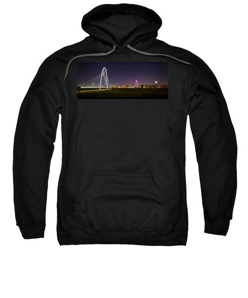 Dallas Skyline And Margaret Hunt Hill Bridge Sweatshirt