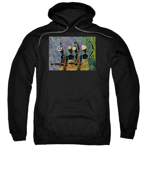 Sweatshirt featuring the photograph Dance Party by Nareeta Martin