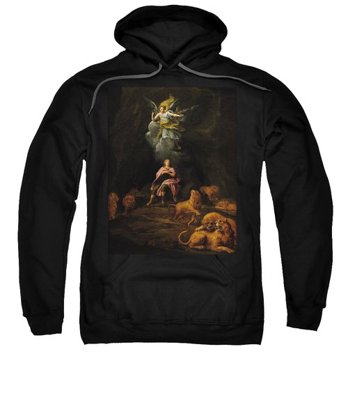 Daniel In The Den Of Lions Oil On Canvas Sweatshirt