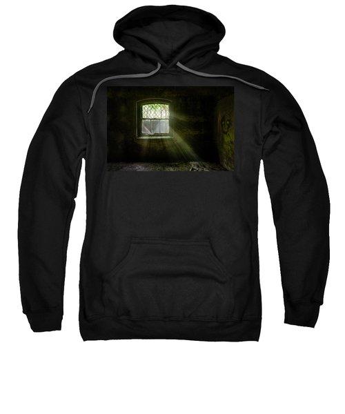 Darkness Revealed - Basement Room Of An Abandoned Asylum Sweatshirt