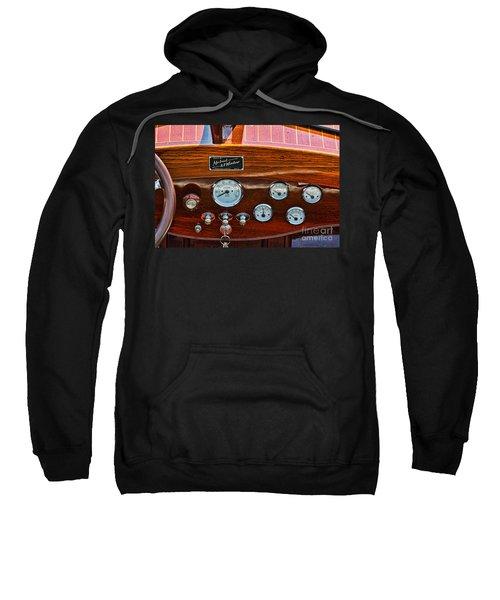 Dashboard In A Classic Wooden Boat Sweatshirt