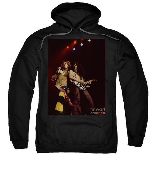 David Lee Roth And Eddie Van Halen - Van Halen- Oakland Coliseum 12-2-78   Sweatshirt by Daniel Larsen