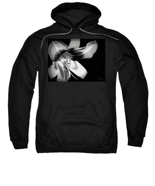 Daylily In Gray Sweatshirt
