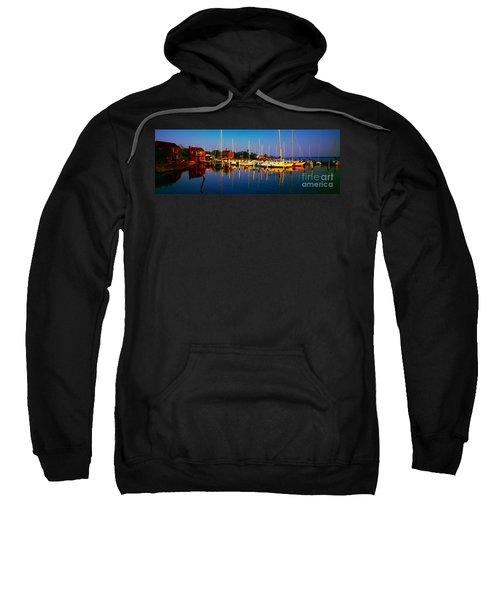 Daytona Beach Florida Inland Waterway Private Boat Yard With Bird   Sweatshirt