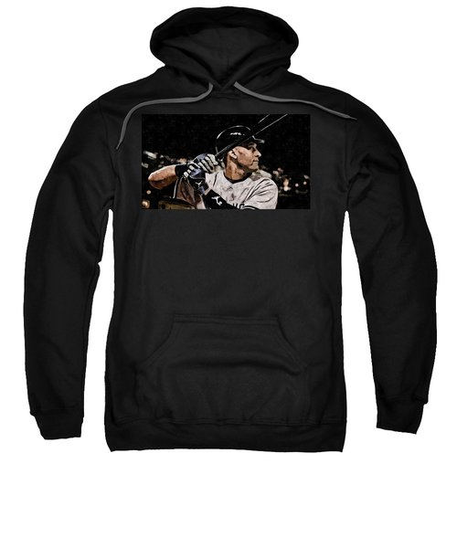 Derek Jeter On Canvas Sweatshirt