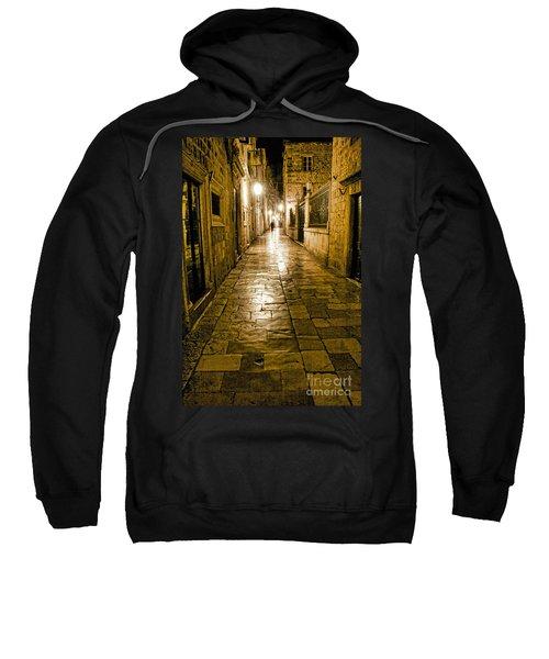 Dubrovnik Streets At Night Sweatshirt