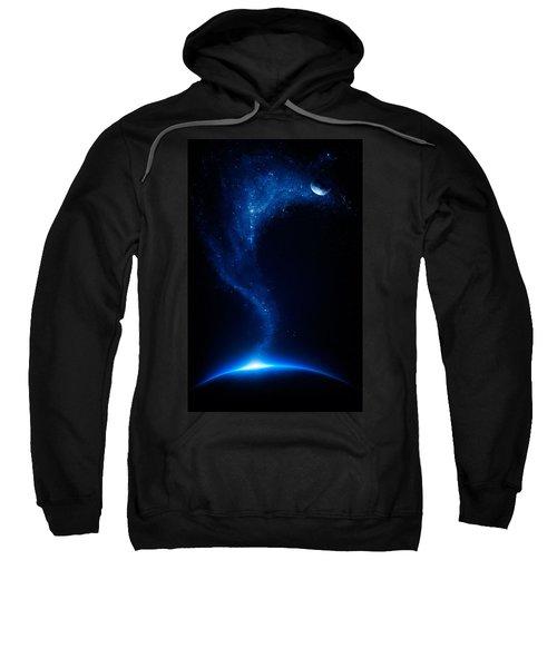 Earth And Moon Interconnected Sweatshirt