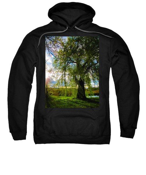 Earth Green Not Avatar Blue Sweatshirt
