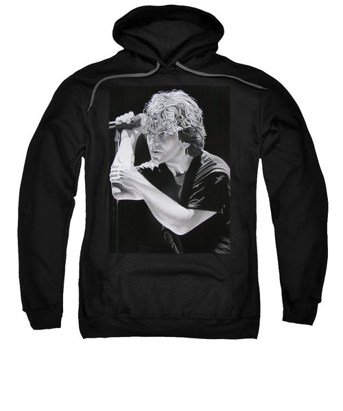 Eddie Vedder Black And White Sweatshirt by Joshua Morton
