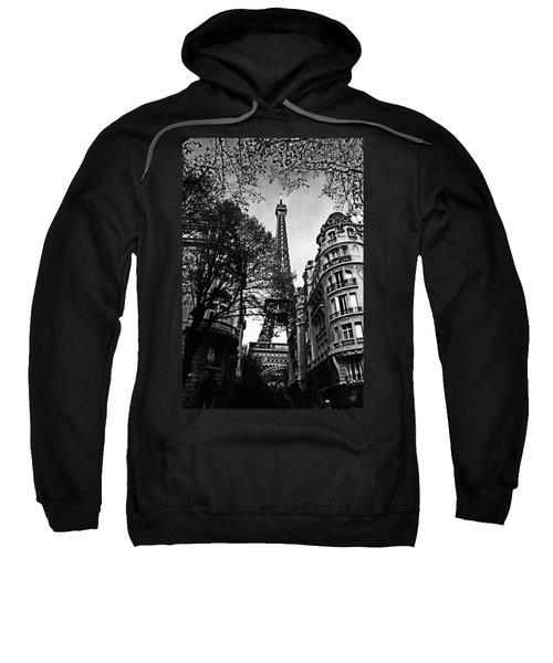 Eiffel Tower Black And White Sweatshirt
