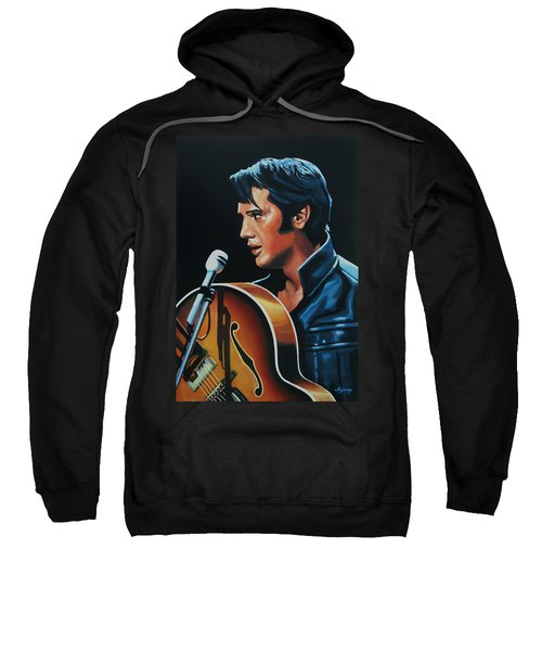 Elvis Presley 3 Painting Sweatshirt by Paul Meijering