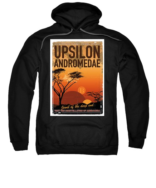 Exoplanet 06 Travel Poster Upsilon Andromedae 4 Sweatshirt